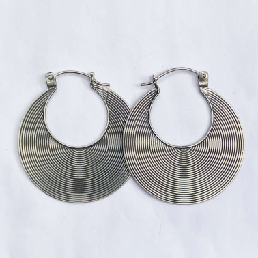 ER 06855 L-(HANDMADE 925 BALI SILVER WIRED EARRINGS 40 MM)